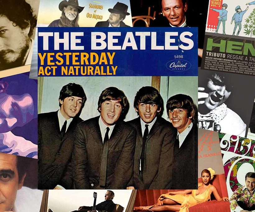 50 couvertures follement diverses des Beatles '' Yesterday ''