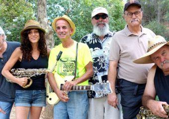 Guitare classique espagnole, blues et jazz à la musique sur le vert